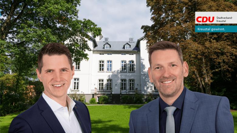 Dr. Müller und Philipp Krause, Stadtverbandsvorsitzender